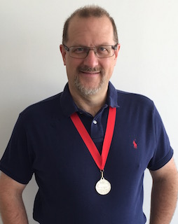 Simon Hackett with his 2014 Charles Todd Medal
